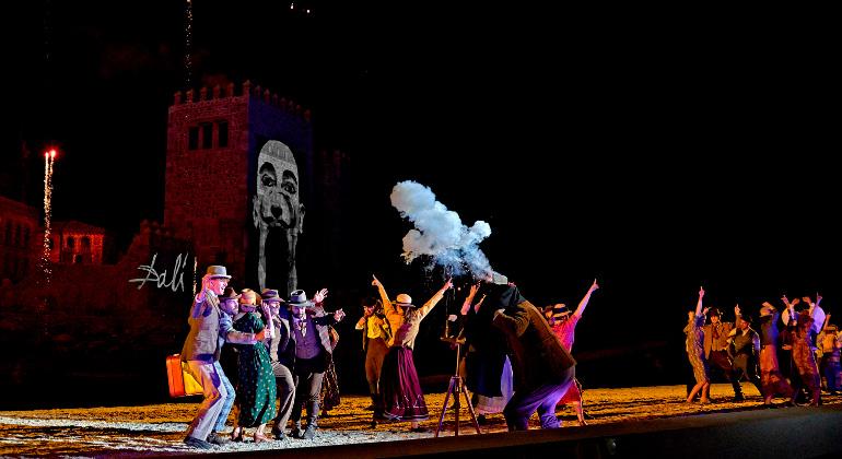 Actores en escena en El Sueño de Toledo