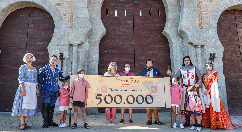 Puy du Fou España alcanza hoy el medio millón de visitas y confirma la ampliación de la temporada